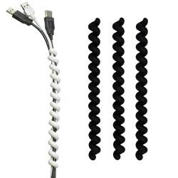 cable twister set à 3 stuks zwart