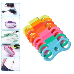 Cable label set | geel, oranje, rood, licht roze, fuchsia, groen en blauw