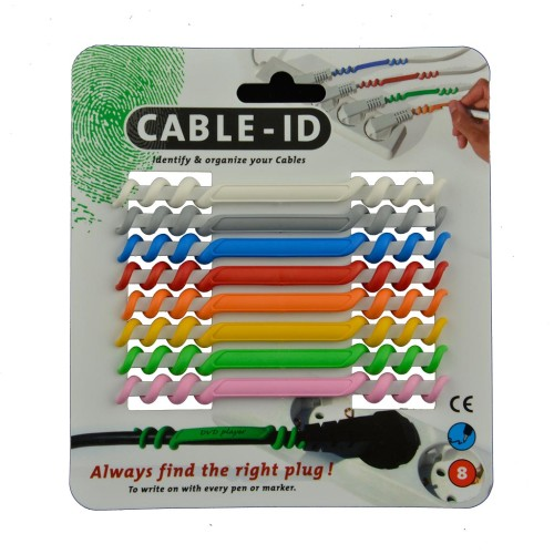 organiseer kabels met Cable ID set 8 kleuren