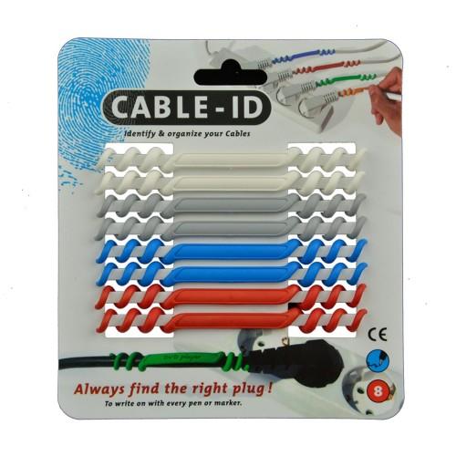 cable ID's 8 stuks in 4 kleuren