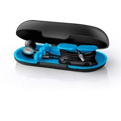 Dotz oordopjes houder Neon zwart /blauw