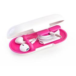 Dotz oordopjes houder wit/roze