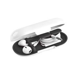 Dotz earbud case wit/ zwart