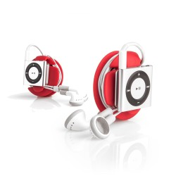 organiseer oordopjes met earbud wrap rood