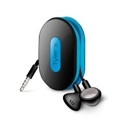 Dotz Wrap ID earbud wrap zwart/blauw