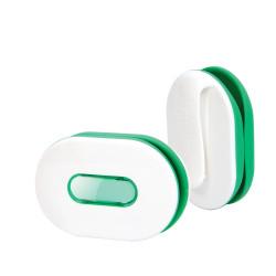 Dotz Wrap ID oordopjes organizer wit/groen