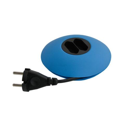 Cleverline CableDisk verlengsnoer blauw