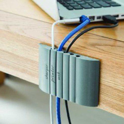 Cable station kabel organizer grijs