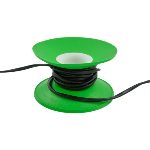 snoeren oprollen met XL Cable Organizer groen / wit