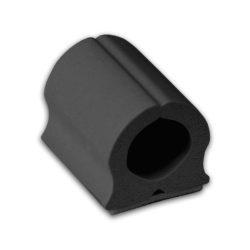 D-wings, kabelgeleider klein zwart 12 stuks