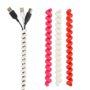 bundel snoeren met Cable Twister fuchsia/ wit/ rood