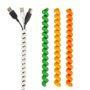 bundel snoeren met Cable Twister groen/geel/oranje
