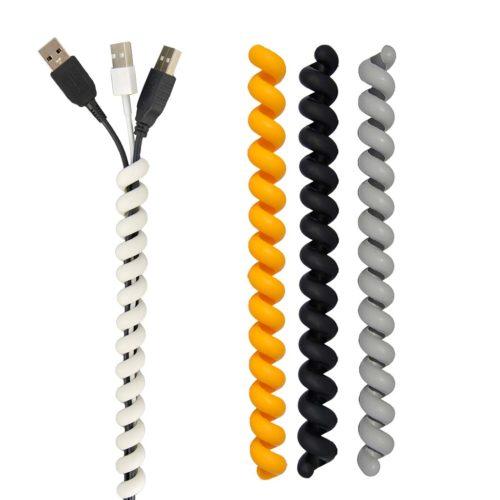 Cable Twister set van 3 stuks geel / zwart / grijs
