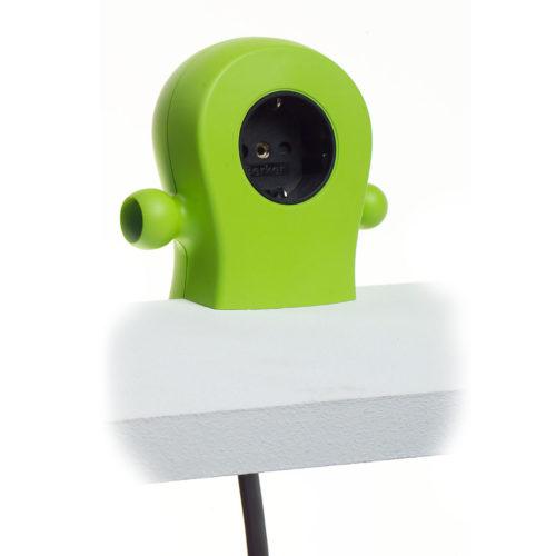 bureau verlengsnoer Caspar lime groen