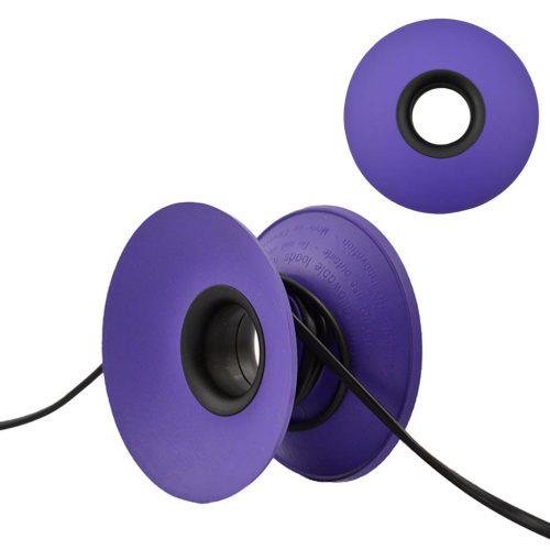 snoeren oprollen met XL Cable Organizer paars / zwart