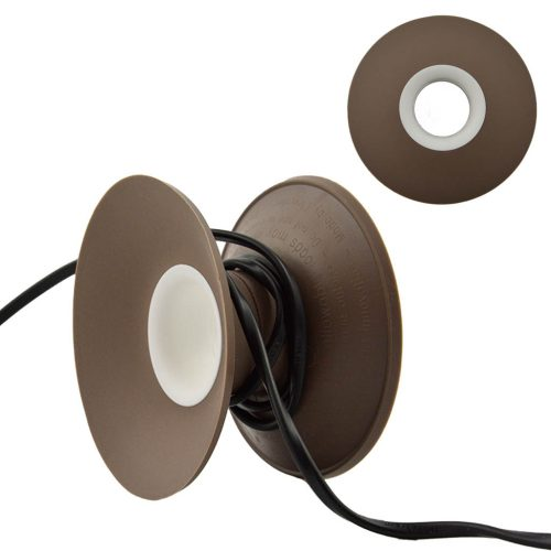 snoeren oprollen met XL Cable Organizer taupe / wit