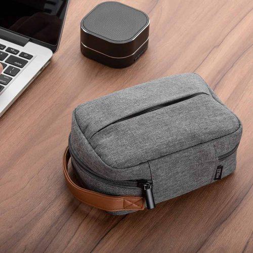 Pocket for gadgets | tasje grijs met handvat