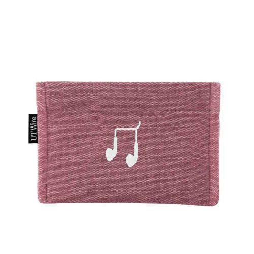 pocket voor oordopjes oud roze