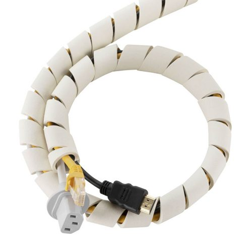 flexibele kabel organizer | 5 stuks à 60 cm Cable Slinky | wit
